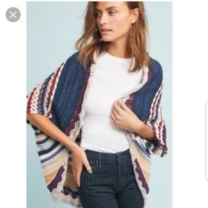 MOTH Kearny Anthropologie Crochet Sweater Shrug